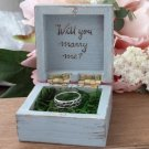 Rustic Engagement Ring Box, Proposal Ring Pillow Holder. Personalized Wedding Ring Pillow