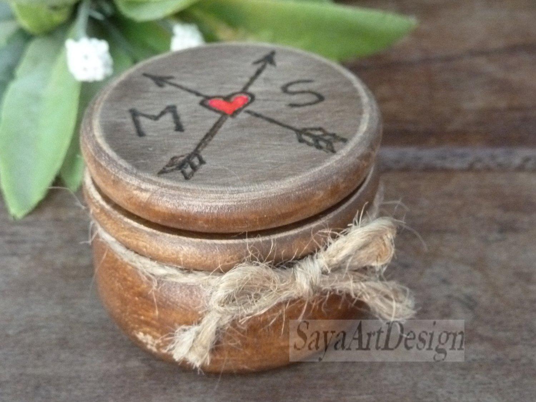 Engagement, Wedding Proposal Custom Ring Box, Boho, Rustic, Ring Pillow Bearer, Ring Holder