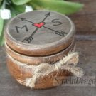 Engagement, Wedding Proposal Custom Ring Box, Boho, Rustic, Ring Pillow Bearer, Ring Holder