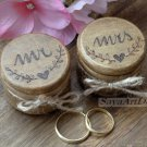 Wedding Ring Boxes Set. Mr Mrs Wedding Ring Pillow. Wooden Ring Bearer Box, Engraved. Bride Groom