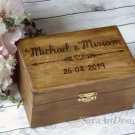 Wedding Ring Box. Rustic Ring Bearer. Wooden Personalized Custom Engraved