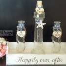 Nautical Wedding Ceremony Set for 3 Family Members, Lighthouse Shaped. Custom Rustic Wedding Gift