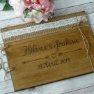 Wooden Wedding Guest Book 50 Sheets, Rustic Guestbook, Customized Wedding Gift.