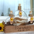 Personalized Sunflower Wedding Sand Ceremony Set. Rustic Chic Unity Ceremony.
