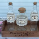 Sand Ceremony Set 3+1, Personalized Wedding Unity Sand Ceremony. Wedding Ceremony Wedding Gift.