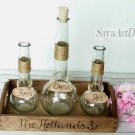Sand Ceremony Set, Wedding Unity Ceremony. Rustic Sand Set Personalized. Unity Sand Holder
