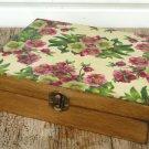 Tea Box. Wooden Storage Box. Jewelry Keepsake. Birthdays Christmas Wedding Gift Mothers Day