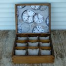 Wooden Watch Box, Personalized Men's Watch Box, Gift For Him. Men's Jewelry Box.