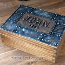 Wooden Watch Box, 6 Compartments Box, Gift For Him. Men's Jewelry Box.