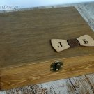 Best Man, Groomsmen Gift Box. Personalized Man's Jewelry Box. Wooden Cigar Box. Custom Box for Men.