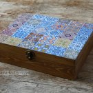 Wooden Tea Box and Tray. Tea Storage Box. Tea Bags Box. Jewelry Box. Christmas Gift.
