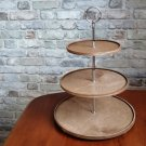 Wooden Tiered Tray. Farmhouse 3 Tier Tray Stand. Triple Tiered Tray. Cupcake stand. Farmhouse Decor.