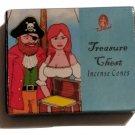 Treasure Chest Incense Cones by Kamini (10 Cones and a Burner Per Box)