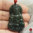 Chinese Female Buddha jade necklace pendant US SELLER
