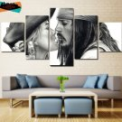 Pirates of the Caribbean Decor Painting Canvas The Kiss Wall Art Framed.