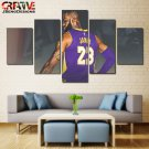 Los Angeles Lakers Wall Art Canvas Painting Poster 5 Piece Canvas Lebron James