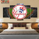 New York Yankees Wall Art Painting On Canvas Framed Yankees Decor Poster HD.
