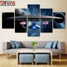Star Trek Wall Art Painting On Canvas Framed Starship Enterprise Poster Decor.
