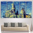 Stary Night Harry Potter Poster Print Canvas Wall Art Oil Painting Home Decor.
