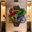 Harry Potter Painting Poster Print Decor 7 Hexagon Panels Framed Wall Art Canvas