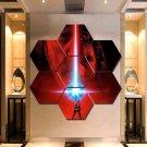 Star Wars Last Jedi Canvas Painting Poster Decor 7 Hexagon Panels Wall Art.