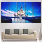 Disney Magic Castle Wall Art Framed Oil Painting Decor Poster HD