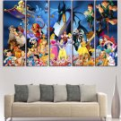 Disney World Characters Movies Wall Art Painting On Canvas Home Decor Poster