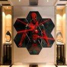 Marvel Deadpool Wall Art Painting Canvas Poster Print Home Decor Hexagon Panels.