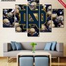 Notre Dame Fighting Irish football Painting Canvas Poster Print Decor Wall Art