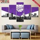 Sacramento Kings Poster 5 Piece Print Wall Art Canvas Painting Decor Framed NBA