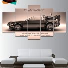 Back to the Future Wall Art Painting Oil On Canvas Hd DeLorean Poster Framed.