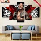 The Rock Painting Canvas Dwayne Johnson Poster Wall Art WWE Home Decor Print HD.