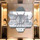 Rocky Balboa Canvas Painting Poster Print Decor 7 Hexagon Panels Wall Art Framed