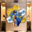 Stephen Curry Wall Art Canvas Painting Poster Decor 7 Hexagon Panels Framed.