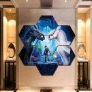 How To Train Your Dragon Wall Art Painting Canvas Poster Decor Hexagon 7 Panels.