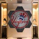 New York Yankees Wall Art Painting Canvas Poster Decor Hexagon 7 Panels Framed