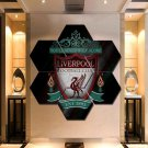 Liverpool F.C. Wall Art Painting Canvas Poster Decor Hexagon 7 Panels Framed.