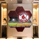 Boston Red Sox Painting Canvas Poster Print Decor Wall Art 7 Hexagon Panels.