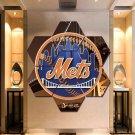 New York Mets Canvas Painting Poster Print Decor Wall Art 7 Hexagon Panels.