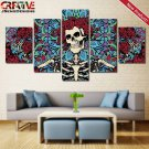 Grateful Dead Painting On Canvas Home Decor Poster Print HD 5 Piece Wall Art