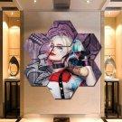 Harley Quinn Wall Art Canvas Painting Poster Print Decor 7 Hexagon Panels.