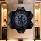 Chelsea F.C. Wall Art Painting Canvas Poster Print Home Decor Hexagon 7 Panels.