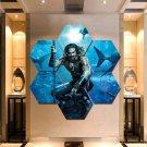Aquaman Wall Art Painting Canvas Poster Print Home Decor Hexagon 7 Panels.
