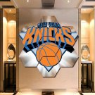 NY Knicks Wall Art Painting Canvas Poster Print Home Decor 7 Hexagon Panels.