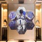 Tracy McGrady Wall Art Painting Canvas Poster Print Home Decor 7 Hexagon Panels.