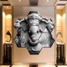 Lord Ganesha Home Decor 7 Hexagon Panels Wall Art Canvas Painting Poster Print.
