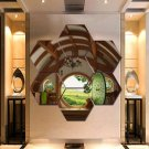 The Hobbit Home Wall Art Canvas Painting Poster Decor 7 Hexagon Panels Framed.