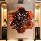 Predator Wall Art Canvas Painting Poster Print Home Decor 7 Hexagon Panels.