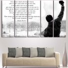 Rocky Balboa Quote Wall Art Painting On Canvas Print Poster HD Framed.