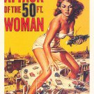 """Attack Of The 50ft Woman Movie Poster Print HD Wall Art Home Decor Silk 27"""" x 40"""""""